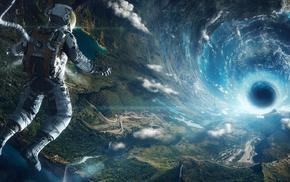 astronauts, space, universe, stars, Rama, space art