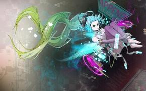 anime, Vocaloid, twintails, Hatsune Miku, anime girls