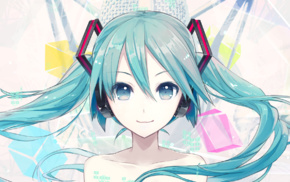 anime girls, anime, twintails, Vocaloid, Hatsune Miku