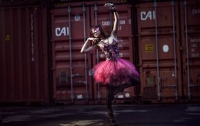 container, model, dancers, girl