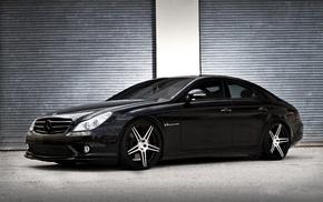 Mercedes CLS 55 AMG, cars, black