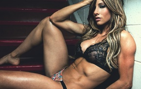 blonde, model, lingerie, girl, Paige Hathaway, fitness model