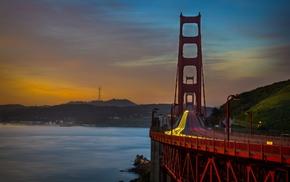 long exposure, Golden Gate Bridge, San Francisco Bay, bridge