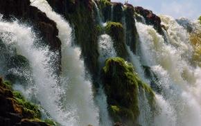 waterfall, water, nature