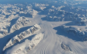 hill, aerial view, mountain, shadow, snow, Greenland