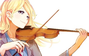anime girls, Miyazono Kaori, school uniform, musical instrument, violin, anime