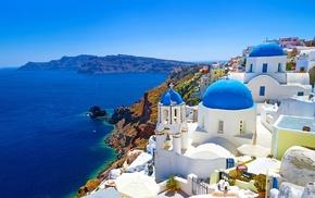 Santorini, Cambodia, Greece