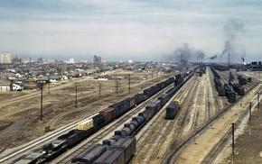 rail yard, train