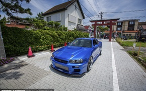 Nissan, Skyline R34, speed hunters, Nissan Skyline, car