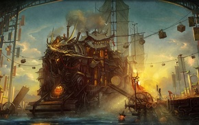 artwork, steampunk
