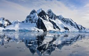 ice, snow, water, mountain