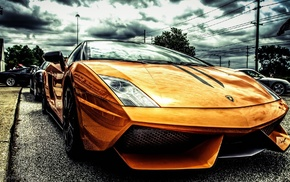orange, filter, Lamborghini