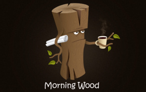 quote, log, morning, wood, coffee