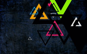 abstract, triangle, colorful