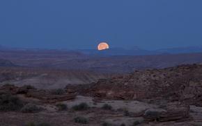 landscape, moon