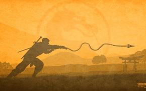 minimalism, Scorpion character, video games, Mortal Kombat X