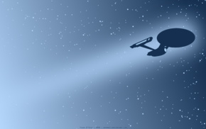minimalism, artwork, Star Trek, USS Enterprise spaceship, space