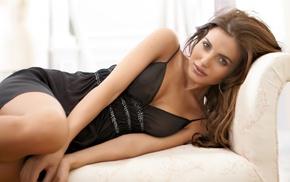 looking at viewer, lingerie, girl, Diana Morales, brown eyes, model