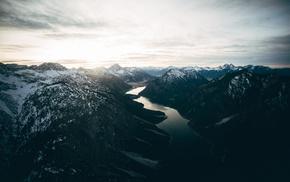 Alps, sky, Colorado, lake, mountain, landscape