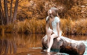 girl outdoors, girl, model