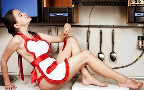 kitchen, girl, model