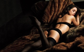 black hair, Eliza Dushku, underwear, black lingerie, girl