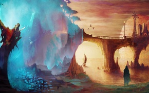 heroes, Imagine FX, good and evil, bridge, space, colorful