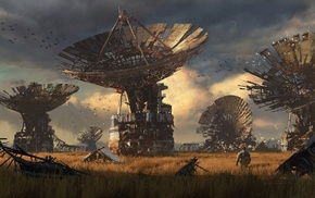 satellite, digital art, concept art, artwork, apocalyptic
