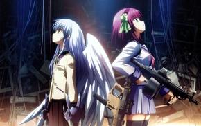 anime girls, Angel Beats, Nakamura Yuri, anime, Tachibana Kanade