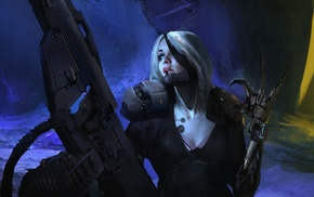 girl, androids, futuristic, concept art, robot, artwork