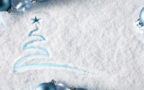 stars, winter, imagination, snow, Christmas Tree, blue background