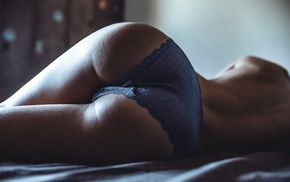 rear view, girl, lying on side, model, ass, back