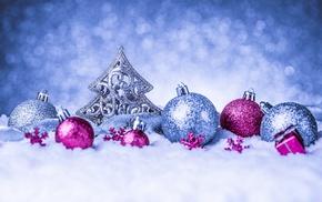closeup, winter, Christmas ornaments