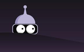 artwork, Futurama, Bender, minimalism