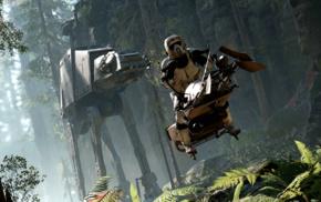 speeder bike, video games, Battle of Endor, Star Wars Battlefront, Star Wars, ultrawide