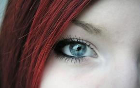 closeup, face, redhead, girl