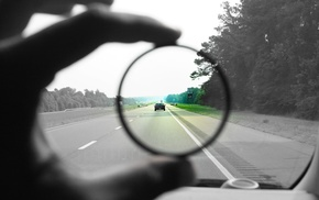 fingers, hand, vehicle, trees, lens, driving