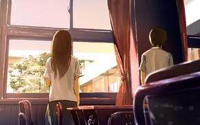 anime, classroom, students, original characters