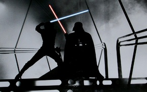 Darth Vader, Star Wars, Luke Skywalker, lightsaber