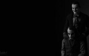Heath Ledger, Joker, Batman, black background, The Dark Knight, Jack Nicholson