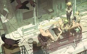 Hatsune Miku, Megpoid Gumi, Vocaloid, Kagamine Rin, Kagamine Len, car