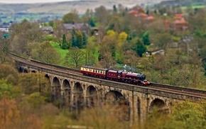 landscape, train, vehicle