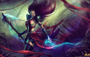 video games, armor, long hair, Guild Wars, staff