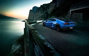 vehicle, blue cars, Lamborghini Huracan, Lamborghini