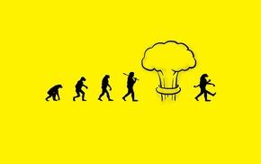 digital art, humor, evolution, atomic bomb