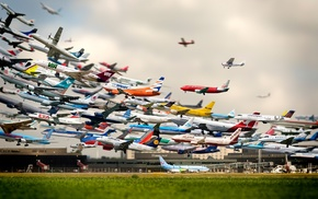 aircraft, hannover, airport