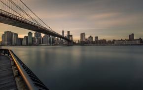 bridge, Brooklyn Bridge, Brooklyn, city