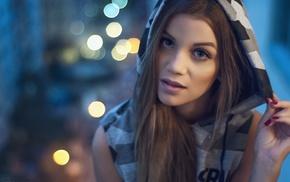blonde, hoods, Thiago Bomfim, Raissa Mendes, girl, portrait
