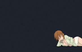 anime, Ohkubo Atsushi, cleavage, sleeping, pyjamas, short pants