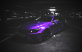 BMW, selective coloring, purple, cars